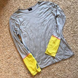 Splits 59 - Long Sleeve Top - Grey/Yellow - Large